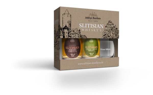 Schlitzer Whisky Geschenkset Whisky Liqueur & Single Grain Whisky