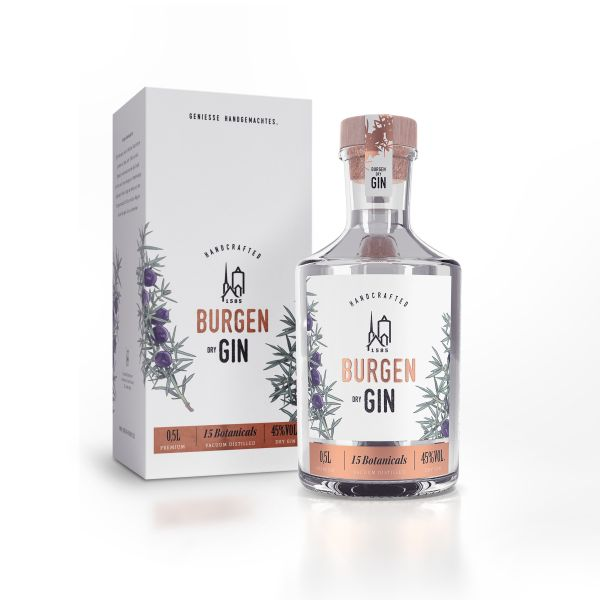 Burgen Dry Gin 0,5l inkl. Geschenkkarton