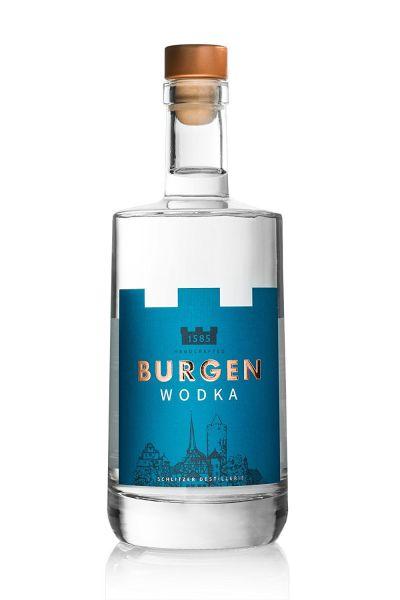 Burgen Wodka Flasche vorne