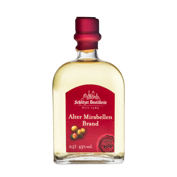 Alter Mirabellenbrand 43%vol. 0,5 Liter