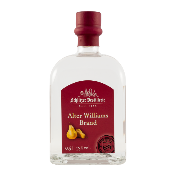 Alter Williams-Christ-Birnen Brand 43%vol. 0,5 Liter