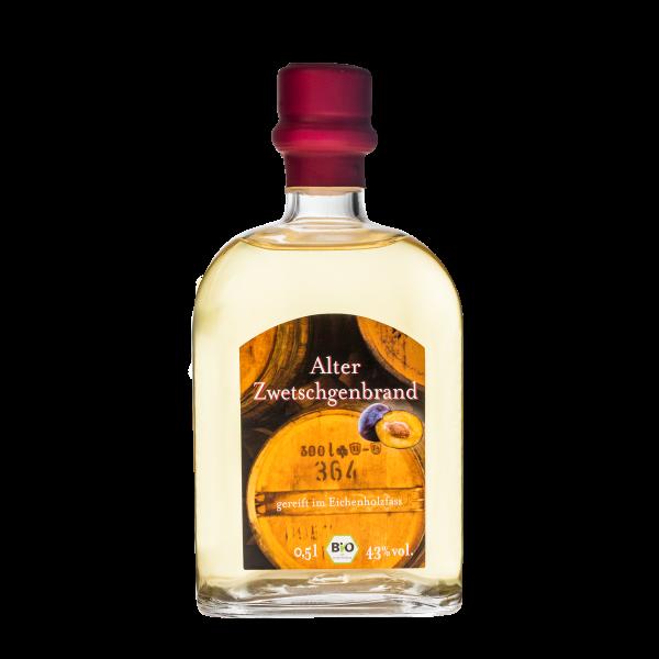 Alter Zwetschgenbrand Bio 43%vol. 0,5 Liter