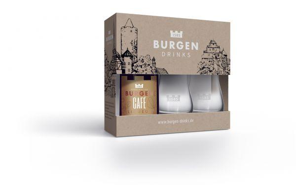 Burgen Geschenkset Café Liqueur inkl. Degustationsgläser