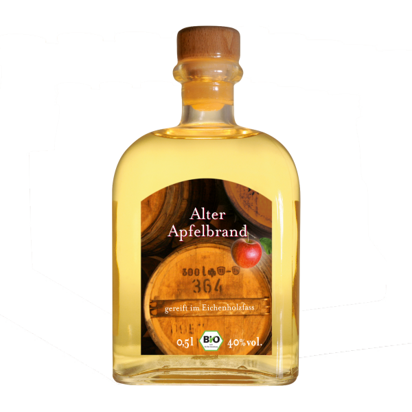 Alter Apfelbrand Bio 0,5 Liter