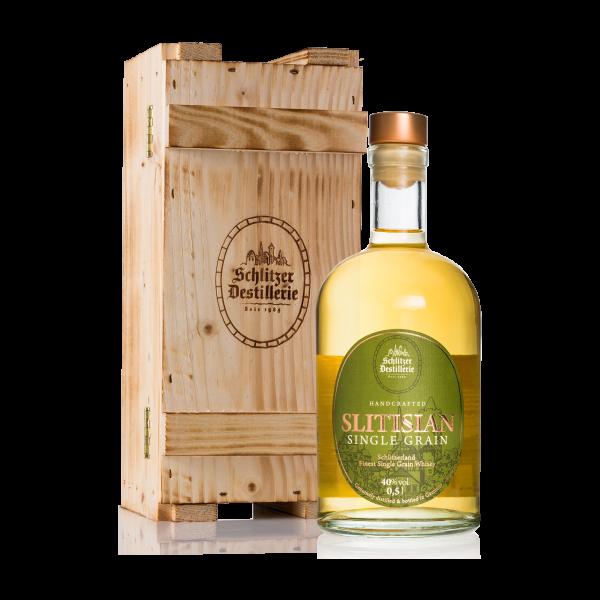 "Holzkassette ""rustikal"" für Whisky"